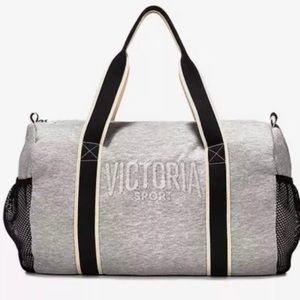 VICTORIA SPORT Gray Fleece Duffle Bag